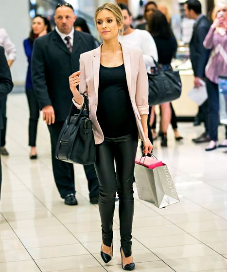 Pregnant-again Kristin Cavallari walks around Fashion Show Mall in Las Vegas after purchasing shoes and viewing her in-store collection at N...