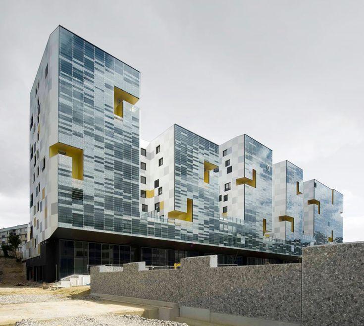 x tu architects: nanterre apartment block, france - designboom | architecture