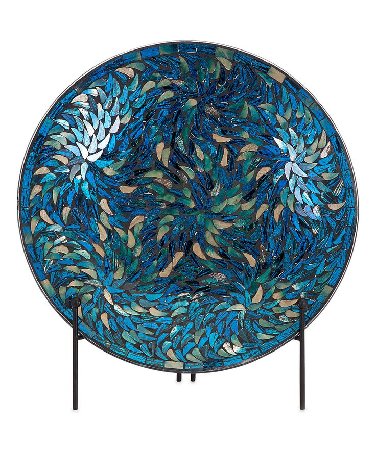 Take a look at this Peacock Mosaic Charger & Stand today!