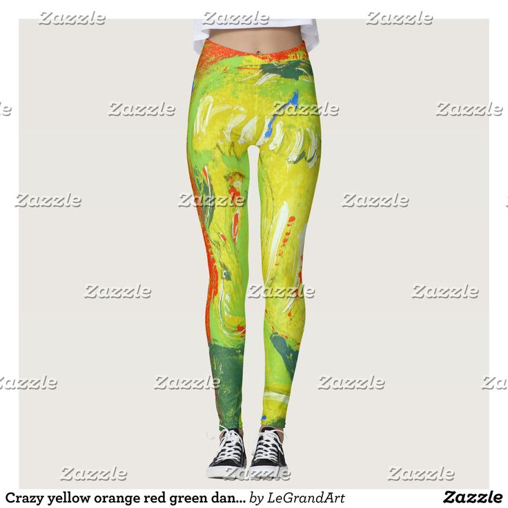 Crazy yellow orange red green dance leggings : Beautiful #Yoga Pants - #Exercise Leggings and #Running Tights - Health and Training Inspiration - Clothing for #Fitspiration and #Fitspo - #Fitness and #Gym #Inspo - #Motivational #Workout Clothes - Style AND #comfort can both be possible in one perfect pair of custom #leggings. #Crazy yellow orange red green dance leggings was crafted made with care each pair of leggings is printed before being sewn allowing for #fun and #creative designs on…