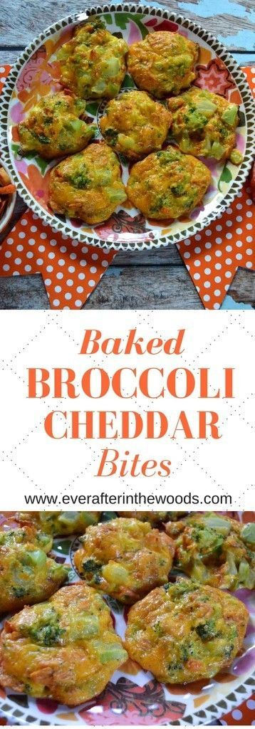 Baked Broccoli Cheddar Bites everafterinthewoo... #HoopswithCrunch #cbias #ad