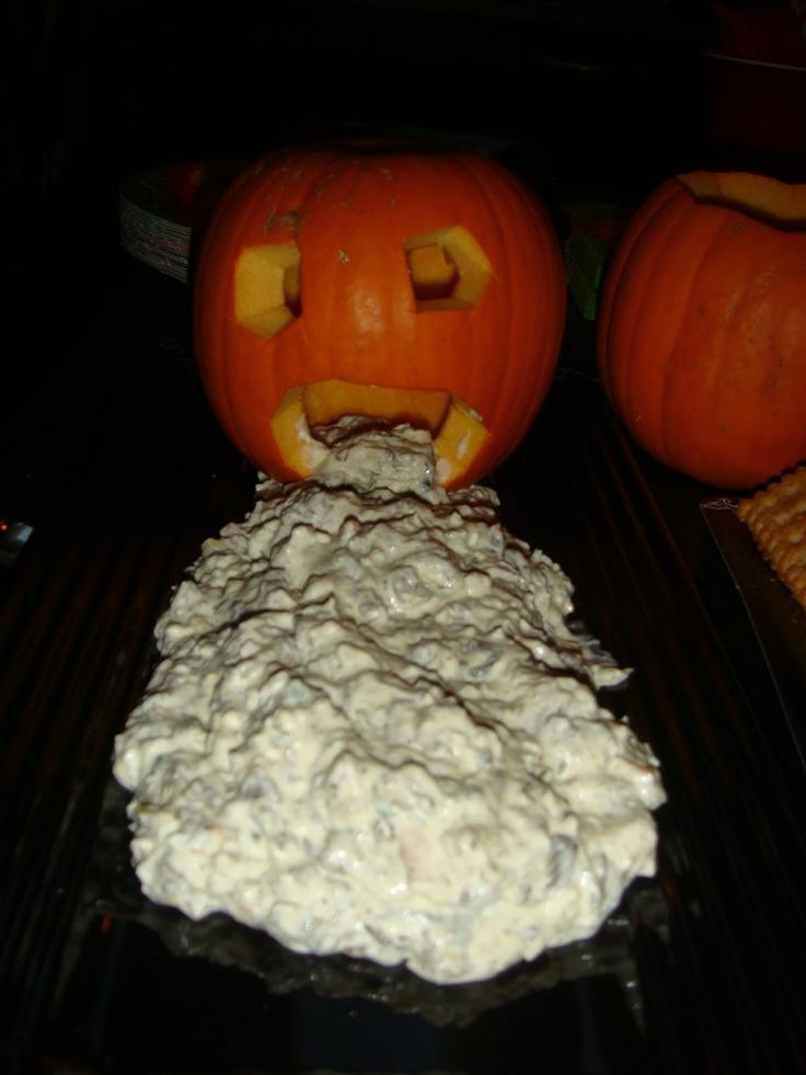 Pumpkin Throwing Up Spinach Dip Holidays Pinterest