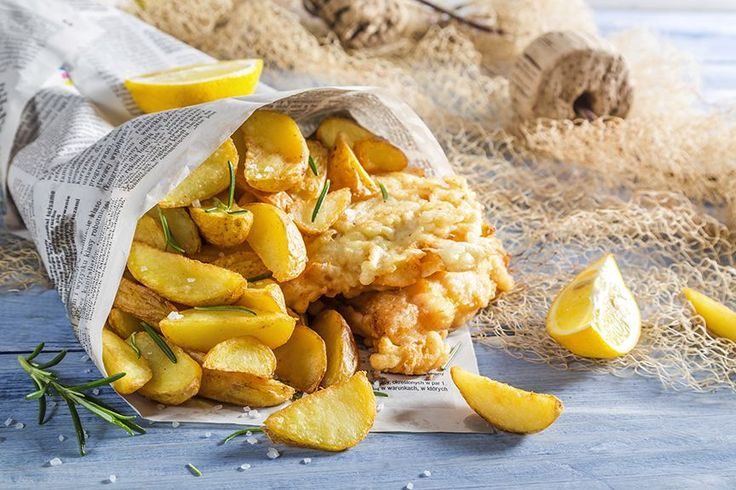 Fish and chips au four