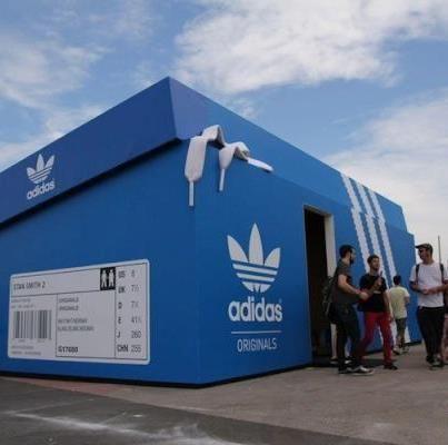 Adidas shop in Amsterdam, Netherlands