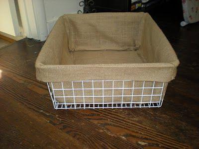 DIY For Basket Liners.