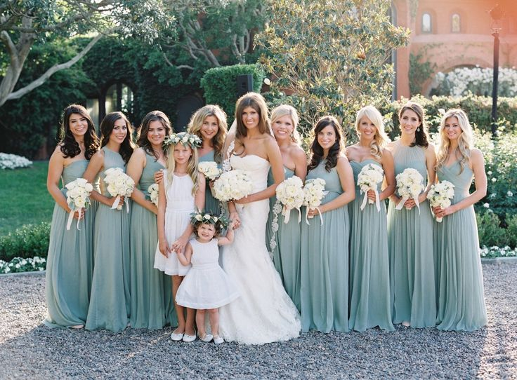 Pretty aqua blue bridesmaid dresses: http://www.stylemepretty.com/2016/02/04/black-tie-secret-garden-wedding/ | Photography: Jose Villa - http://josevilla.com/