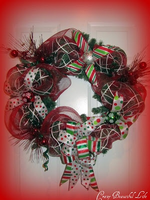Mesh Wreath Tutorial~by Glitter Glue and Paint