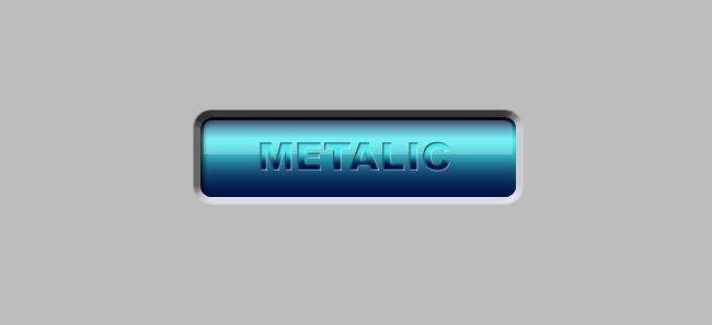 Inset Button in Photoshop with engraved metallic text