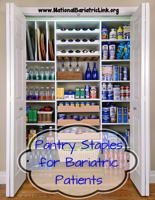 What's in your Pantry? Pantry Staples for post surgery bariatric patients. Gastric Bypass | Gastric Sleeve | Lap Band | Bariatric Surgery                                                                                                                                                                                 More