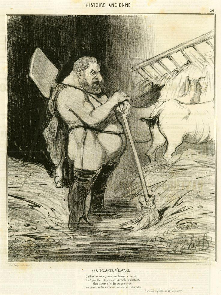 Les Écuries d'Augias, plate 26 from the series Histoire Ancienne , Daumier