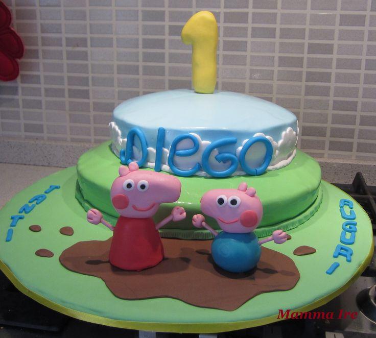 Torta Peppa Pig per un dolcissimo primo compleanno