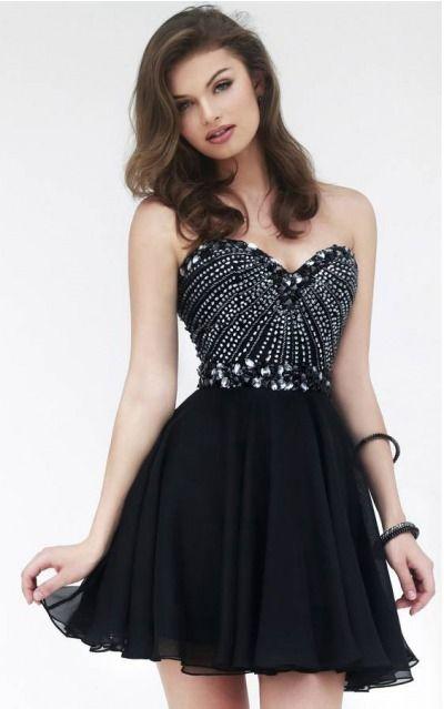 Sweetheart Sleeveless A-line Zipper Short Formal Dresses adbb2147