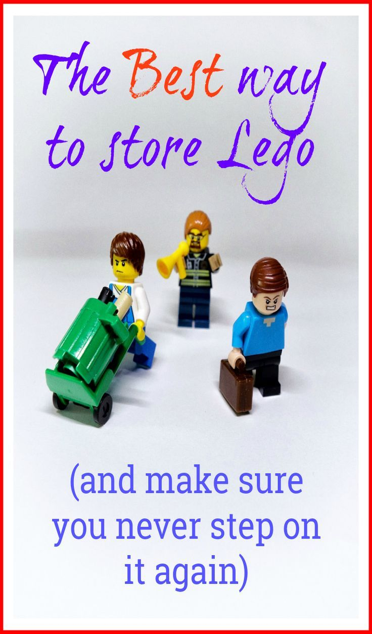 The BEST way to store Lego, this Lego storage solution will make all the difference and will make sure you never tread on it again