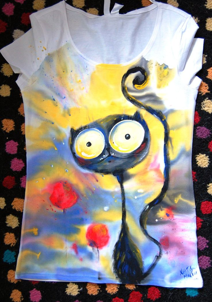 """I love to draw on T-shirts here you can see all my works on them www.flickr.com/photos/56191946… www.facebook.com/MainArtWork vk.com/cat_main I use special fabric paint """"nerchau"""" society6.co..."""