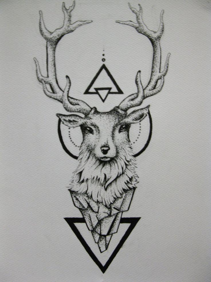 Deer Tattoo by duDuArte