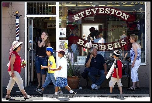 Steveston Barbers by Clayton Perry Photoworks, via Flickr