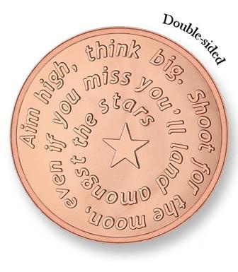 Mi Moneda Large Rose Gold Plated Aim High / Pistol Coin from Michael Jones Jeweller