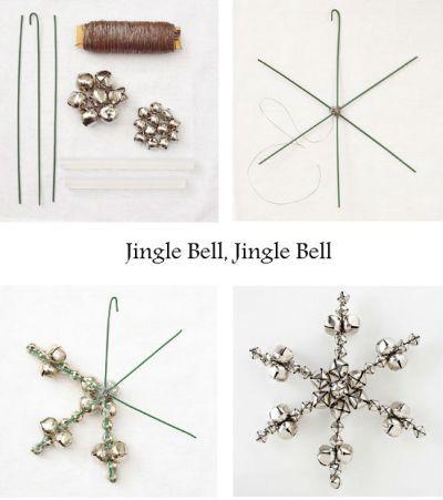 Jingle Bell Snowflakes #diy #christmas #deco