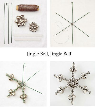 Jingle Bell Snowflakes #diy #christmas #deco