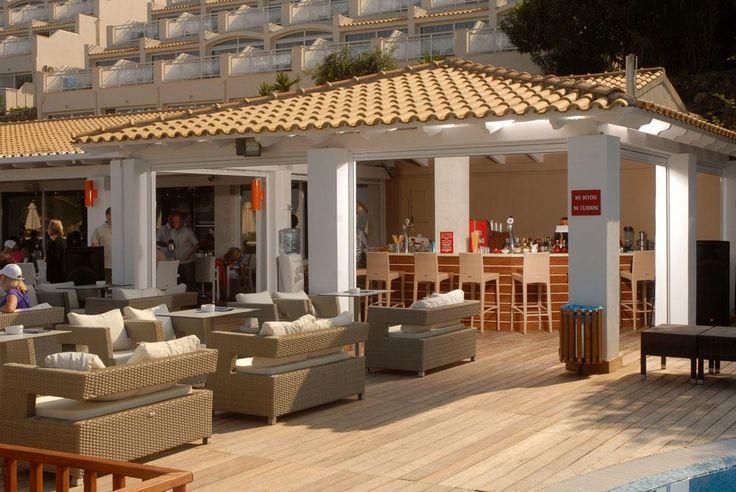 Beautiful bar area at the Aquis Pelekas Beach Hotel. #Greece #Corfu