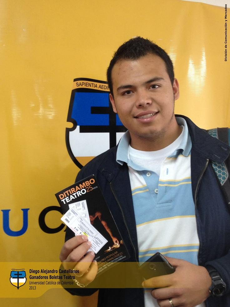 Ganador pase doble obra en Teatro Ditirambo! UCatólicos sigan participando.