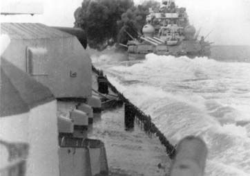 """Taken from the Scharnhorst, ahead the Gneisenau firing her guns at the British aircraft carrier HMS Glorious - Operation """"Juno"""" 4th - 10th June 1940"""