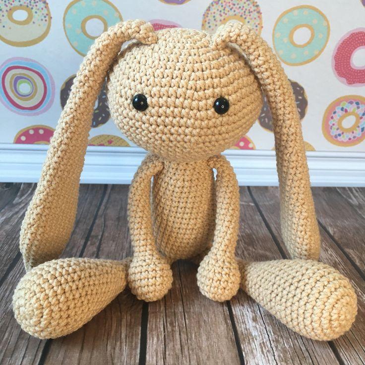 Plush beige bunny toy, stuffed rabbit doll, baby shower