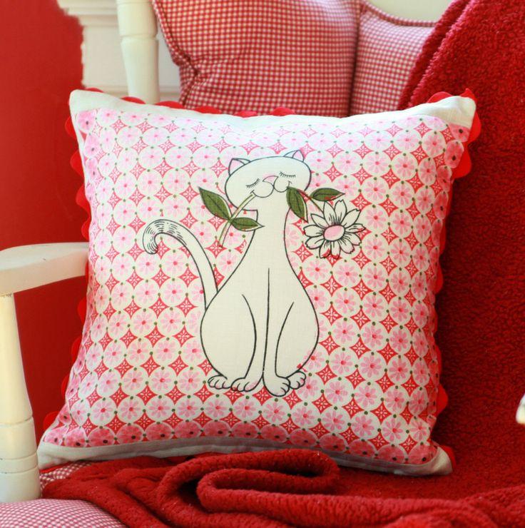 DIY Vintage Tea Towel Throw Pillow My So Called Crafty