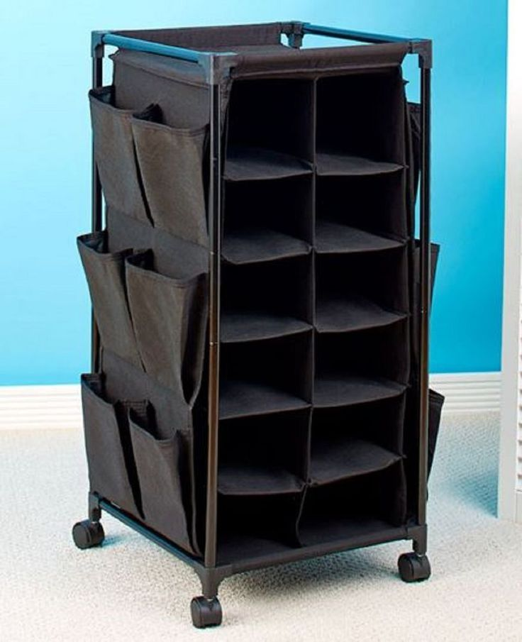 Portable Shoe Rack Rolling Shoe Caddy Organizer Clothing Accessory College Dorm #Unbranded