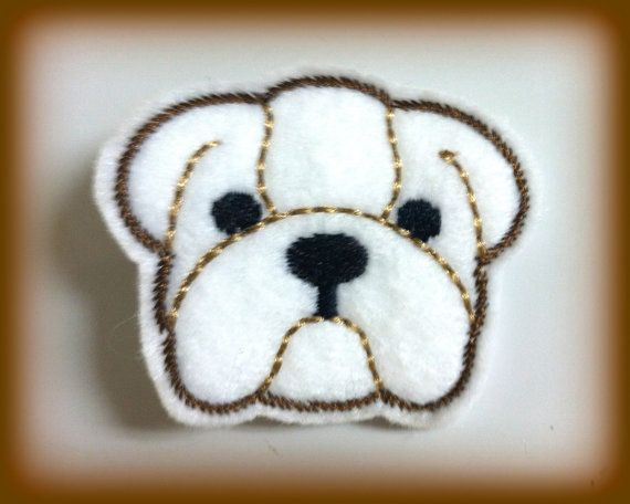 Warning Dog Lovers. This felt hair clip is available in Brown too.. at www.PrincessHair.etsy.com