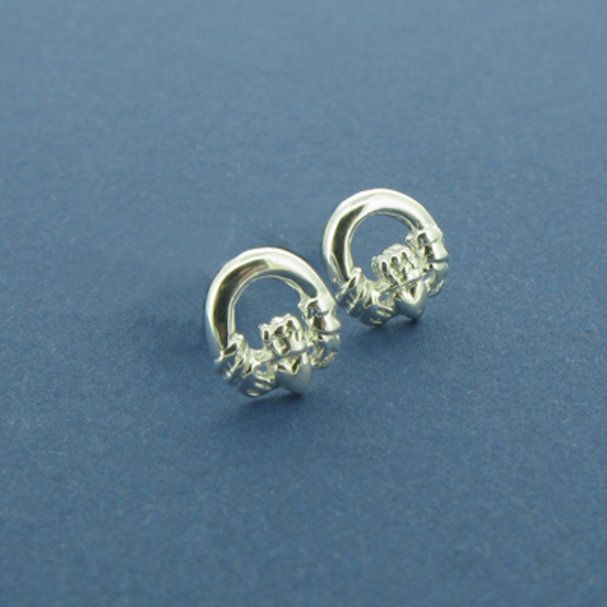 silver claddagh x jewellery simple york new stud rueb sterling earrings