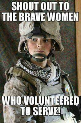 God Bless our Military  Service Women for their Bravery & Sacrifice!