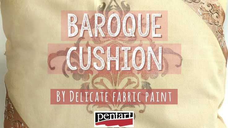 Barokk díszpárna Delicate textilfestékekkel // Baroque cushion by Delica...
