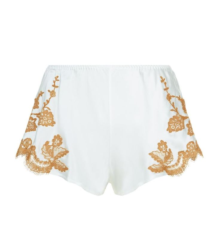 Marjolaine Lace Trim Silk Shorts available to buy at Harrods. Shop designer nightwear online and earn Rewards points.