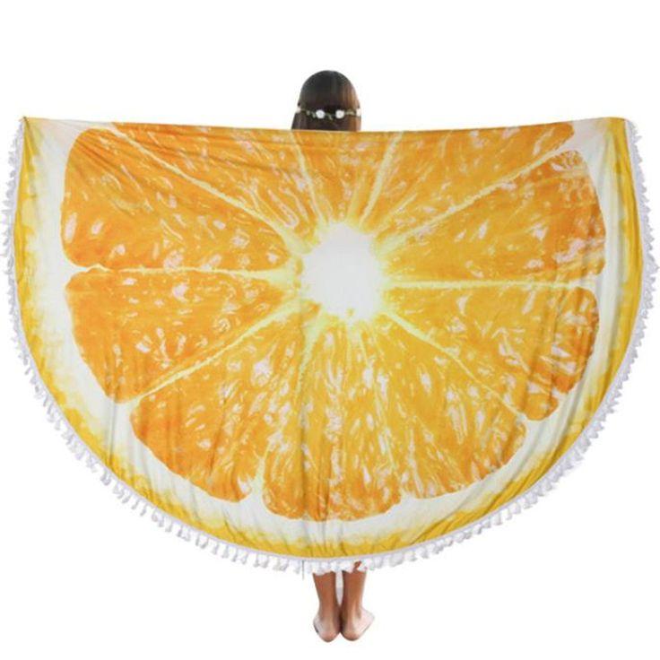 Orange Round Mandala Tapestry Women Beach Sun Bath Cover Up Picnic Mat Blanket Shawl Pashmina Retro Lady Ethnic Style Wrap Nov2