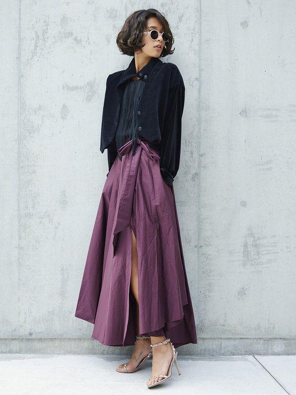 【ELLE】スリットスカートで秋モードなドレスアップを♡ エル・オンライン