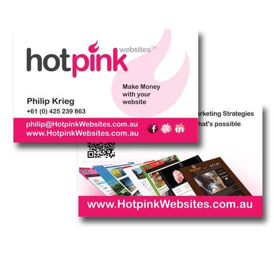 Hot Pink Websites Business Cards Design by www.concept-designs.com.au. For more designs visit our website.