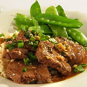 Pork Tenderloin Medallions with Chinese Ginger and Lemon Sauce Recipe - This was AMAZING. The sauce was so flavorful. I served over Asian curly noodles (aka plain ramen) and with some steamed sugar snap peas. This is a keeper!