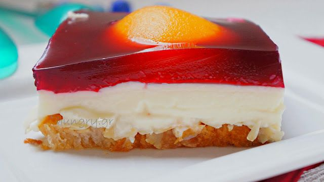 Γλυκό με Φρυγανιές, Κρέμα Βανίλιας & Ζελέ