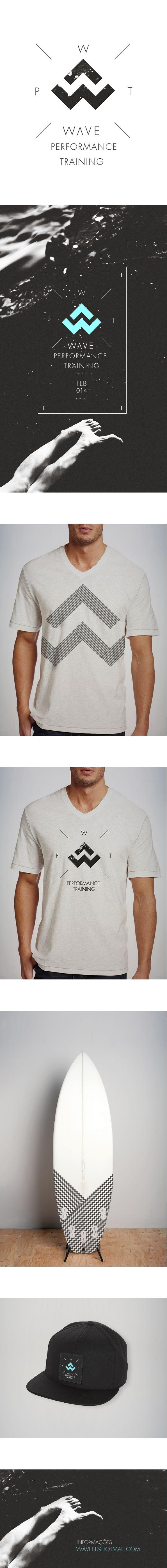 Wave Performance Training by Luis Vaz / logo / identity / branding / packaging / merchandize / shirts / surf / water / beach