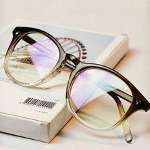 Nuevo Color del gradiente marco moda Gafas mujeres redondo clásico óptico Gafas…