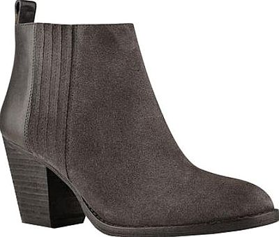Nine West Shoes - The Fiffi ankle bootie from Nine West will be your favorite weekend companion. It's clean lines and modern contrast-material detail will add polish to any casual look. - #ninewestshoes #dark grayshoes