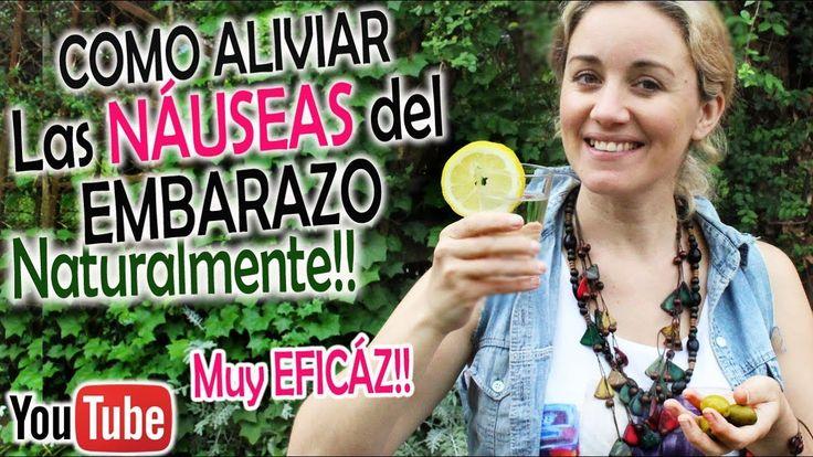 CÓMO ALIVIAR las NÁUSEAS y VÓMITOS en el EMBARAZO!! Aliviar Malestares d...