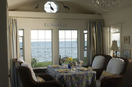 "A room with a view! Frances and Bruce Purdy's ""Purdy Cottage"" in Amherst Shore, Nova Scotia featured in the summer 2008 issue of East Coast Living"