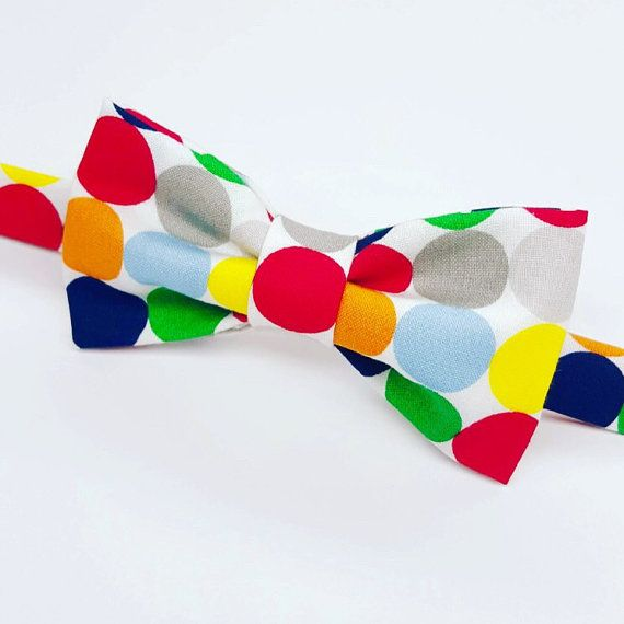 Colorful Bow tie for Men, Kid's Colorful Bow tie by Flytiesforflyguys