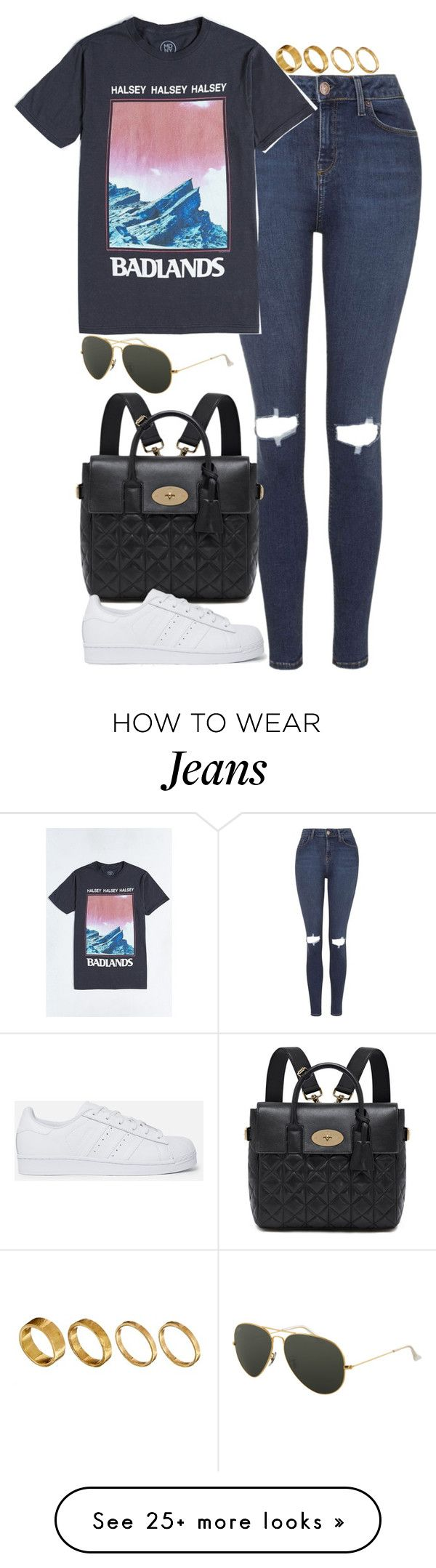 """Untitled #4868"" by eleanorsclosettt on Polyvore featuring moda, Topshop, Mulberry, adidas Originals, Ray-Ban y Made"