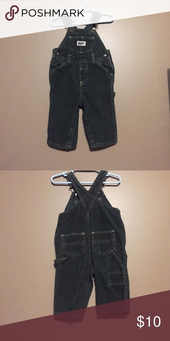 Old Navy baby boy overalls Old Navy olive colored baby boy overalls with logo on front, & front pockets, worn once, 100% cotton Old Navy Bottoms Overalls