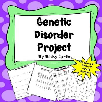hereditary disease project (modified from a project found on the robbinsdale school district website)   provide patients with information about one of the genetic disorders listed below.