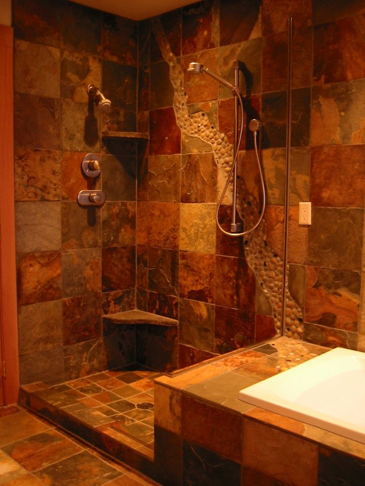 1000 Ideas About Slate Shower On Pinterest Slate Bathroom Dream Shower And Double Shower