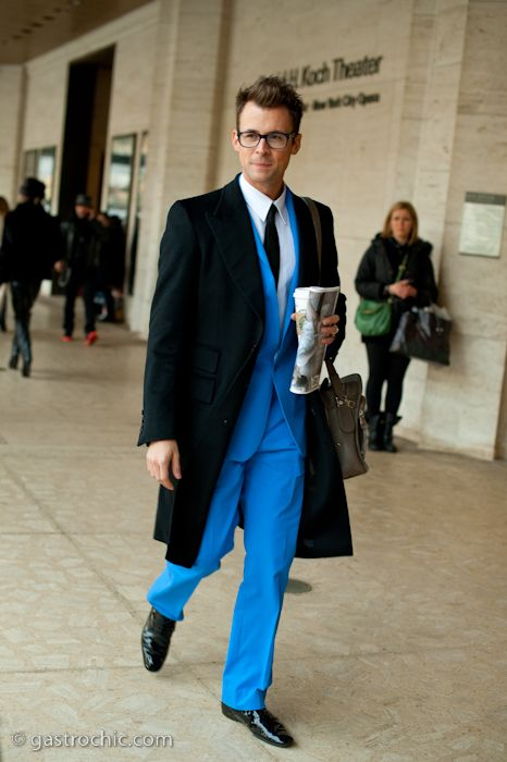 Brad Goreski at DVF on http://www.gastrochic.com